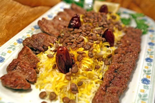 Adas polo ba kabab Barg ba kabab kubidè