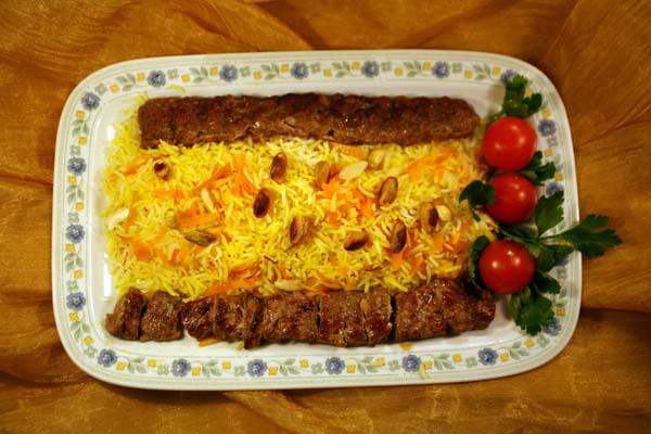 Shirin polo ba kabab barg ba kabab kubidè